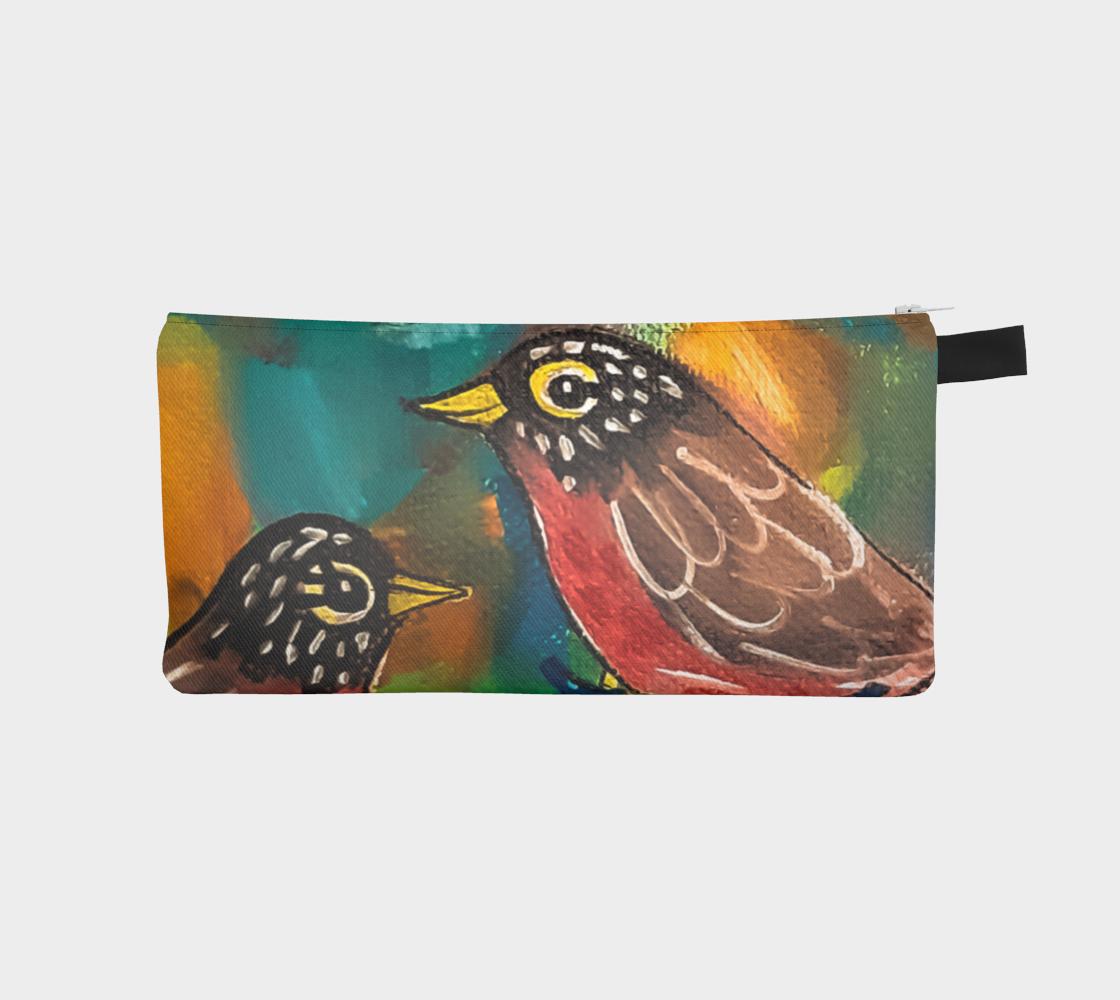 Colorful Robins Pencil Case aperçu