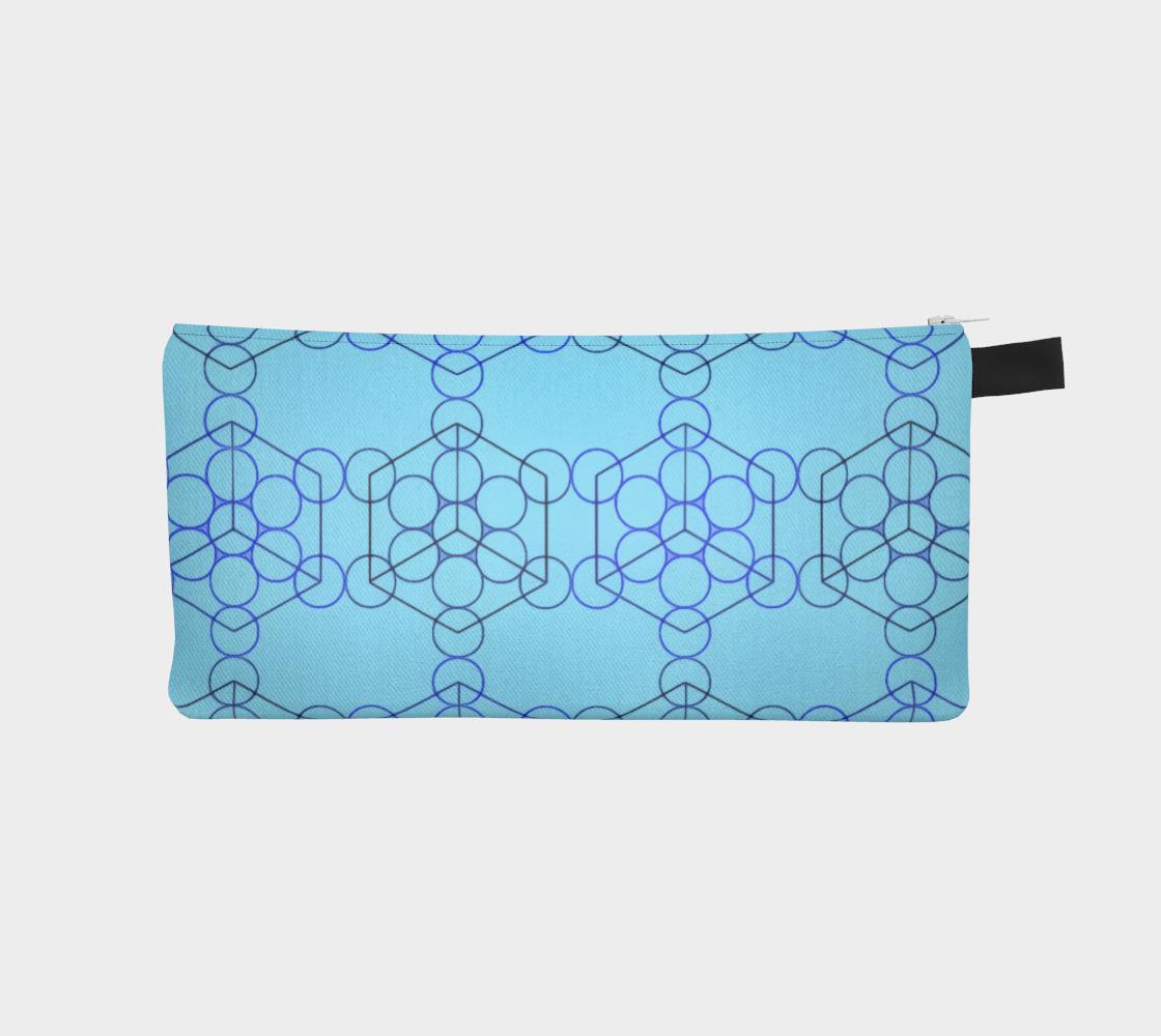 Geometric Tiling Blue Pencil Case preview