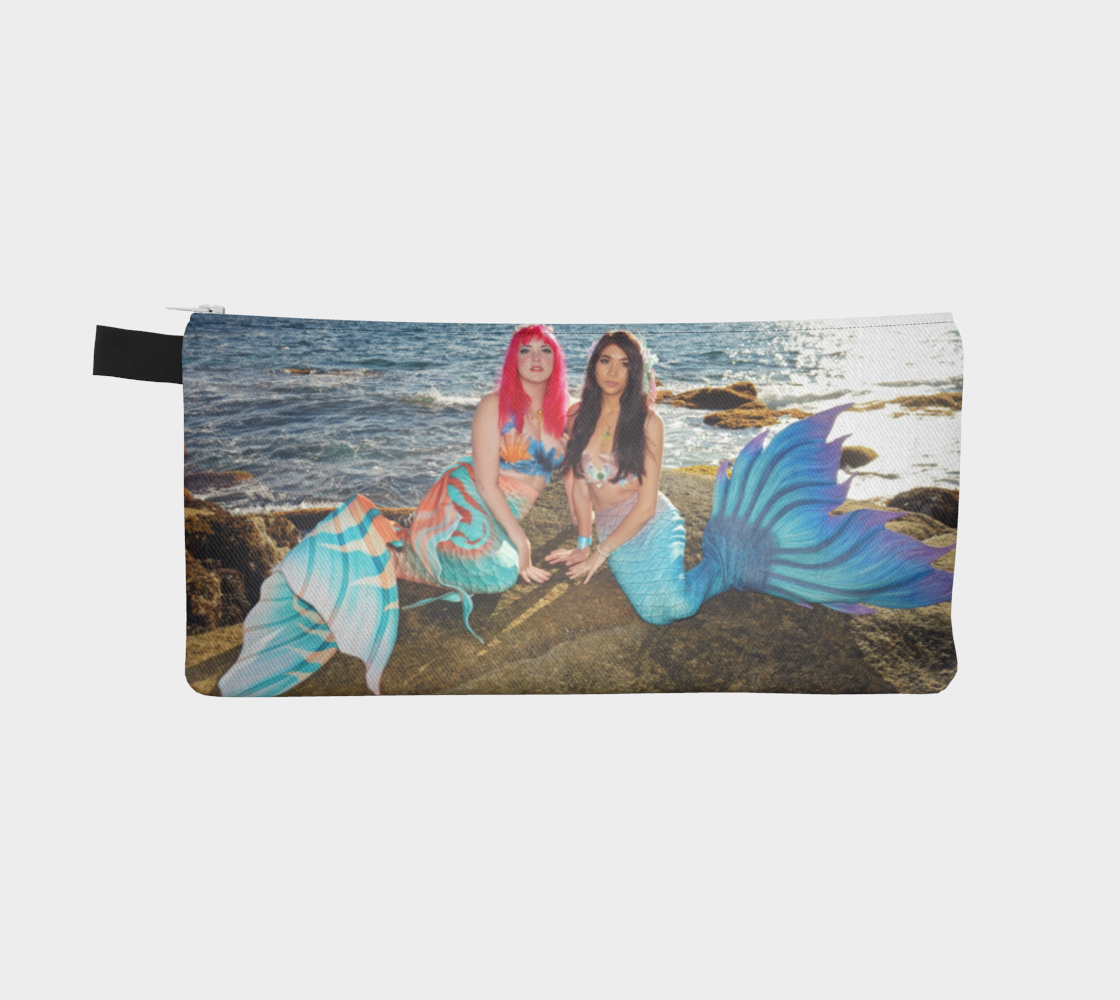Dual-Sided Mer-friends Mermaid Pencil Case preview #2