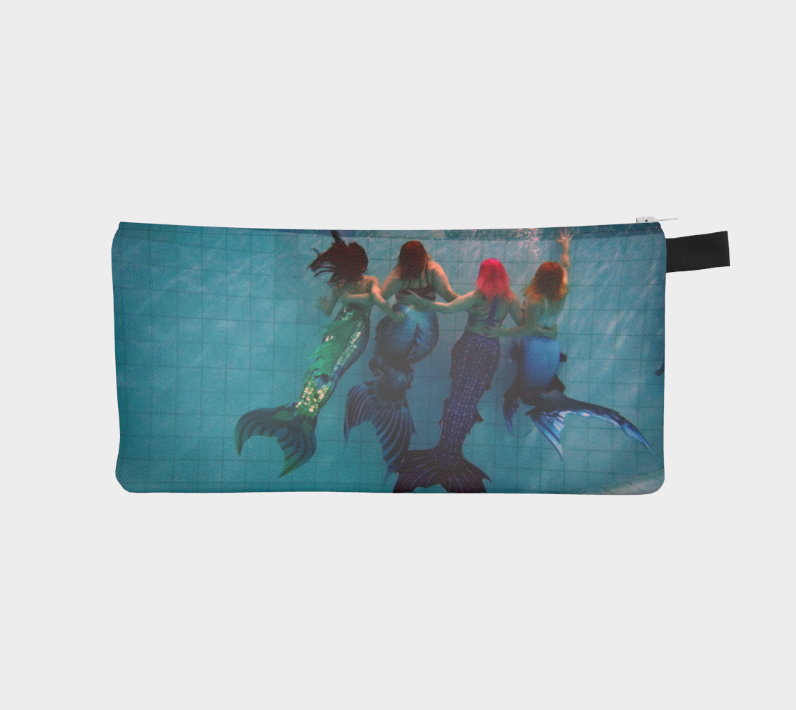 Dual-Sided Mer-friends Mermaid Pencil Case preview