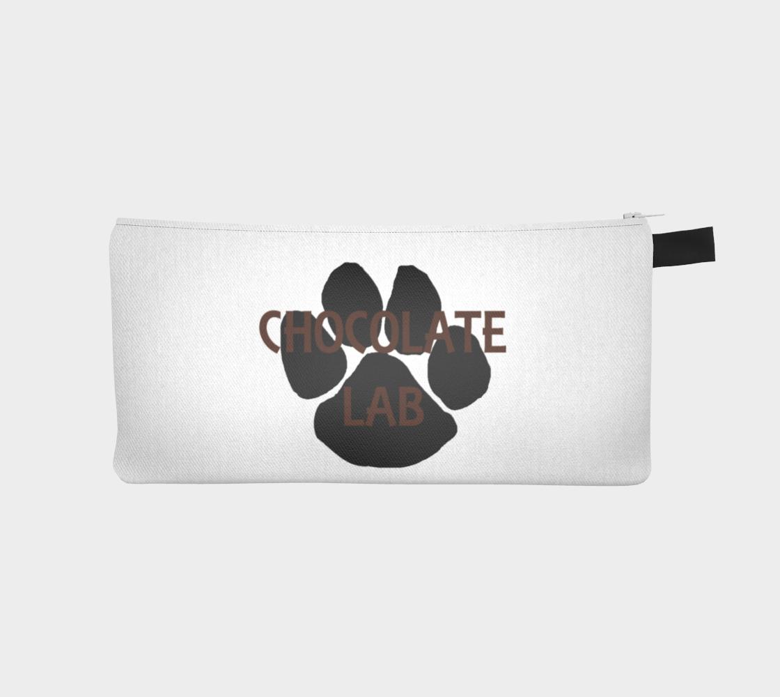 Labrador Retriever chocolate name paw pencil case preview