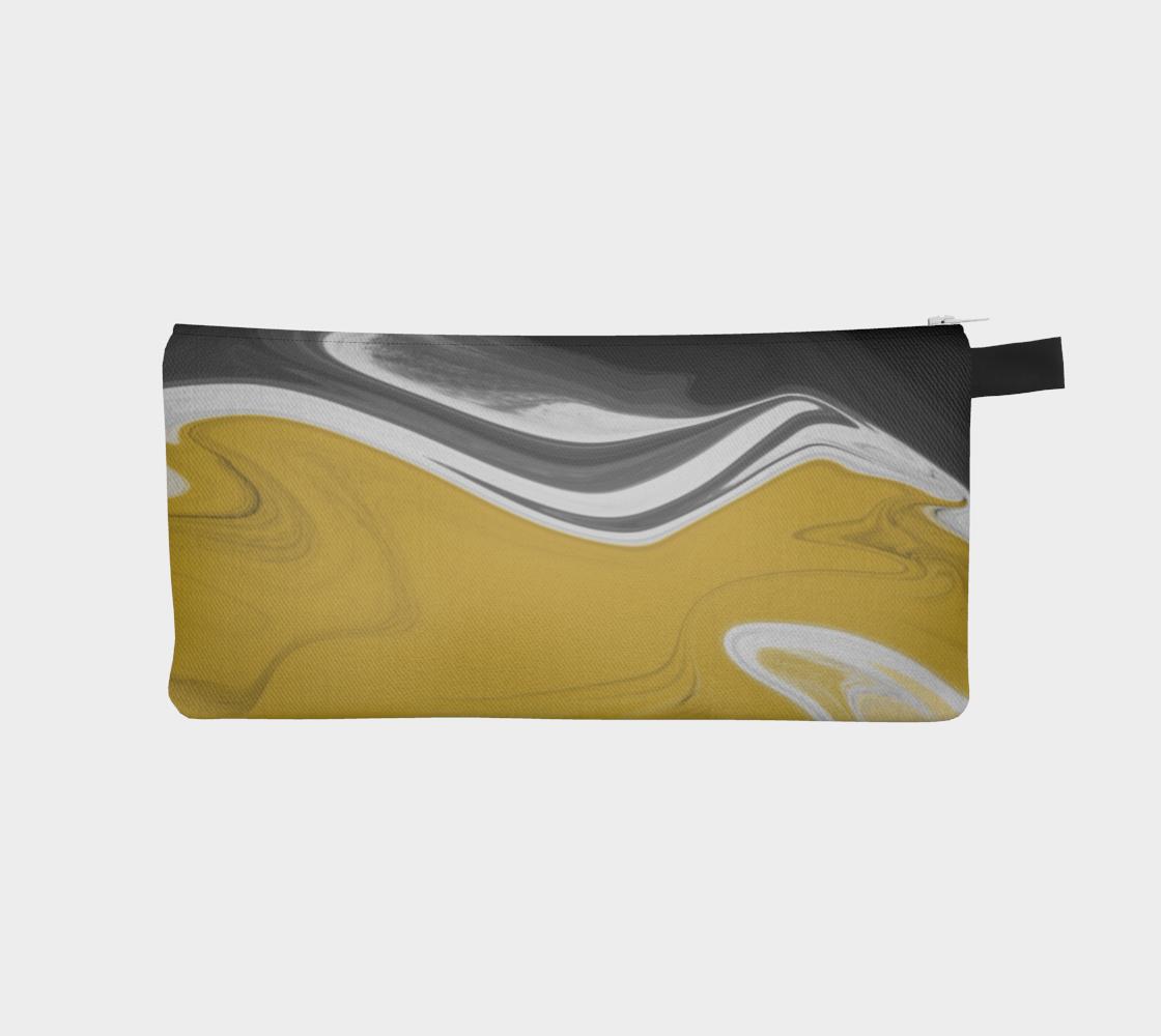 Liquid Black Gold Pencil Case preview