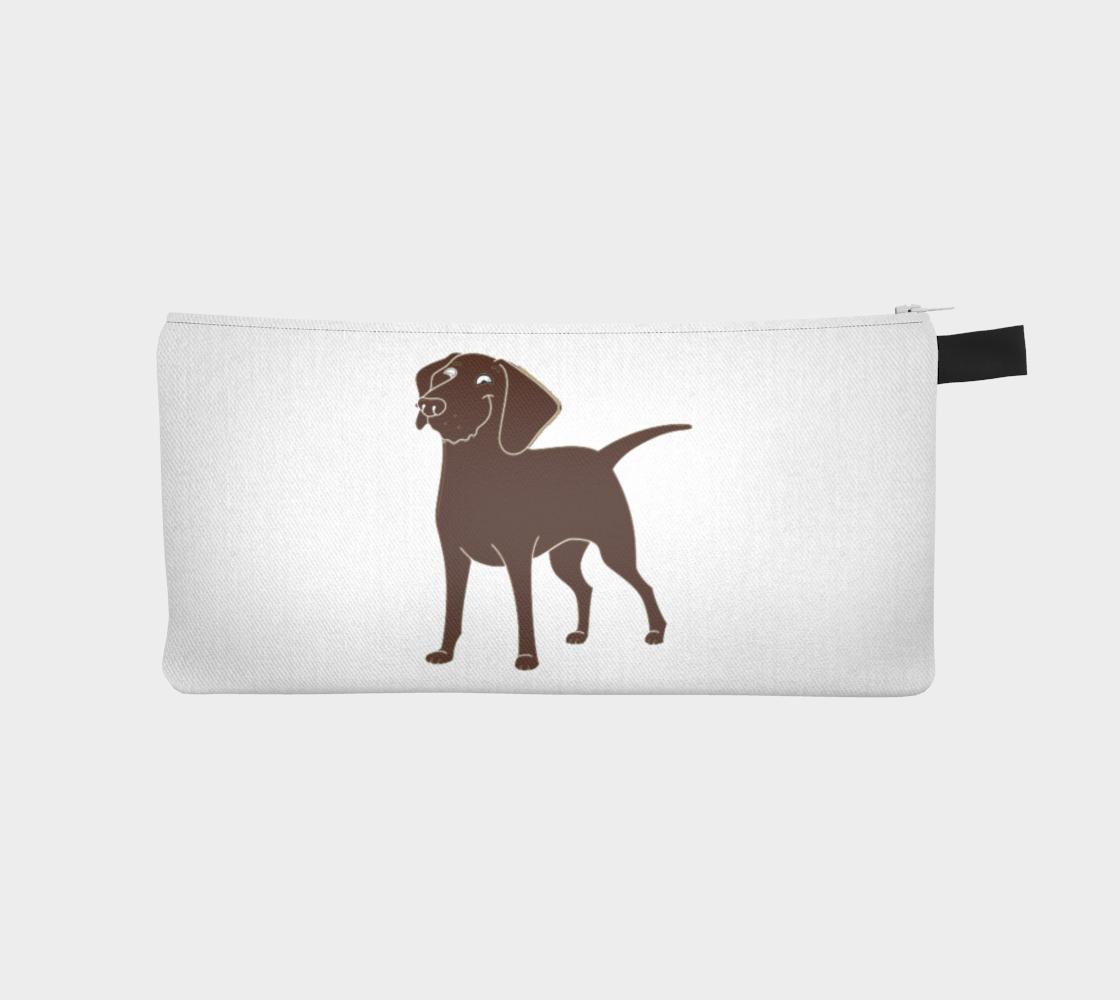 Labrador Retriever chocolate cartoon pencil case preview