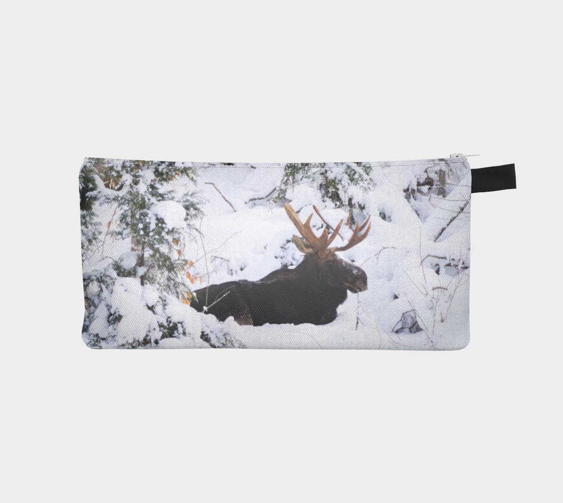 Aperçu de Winter Moose Pencil Case