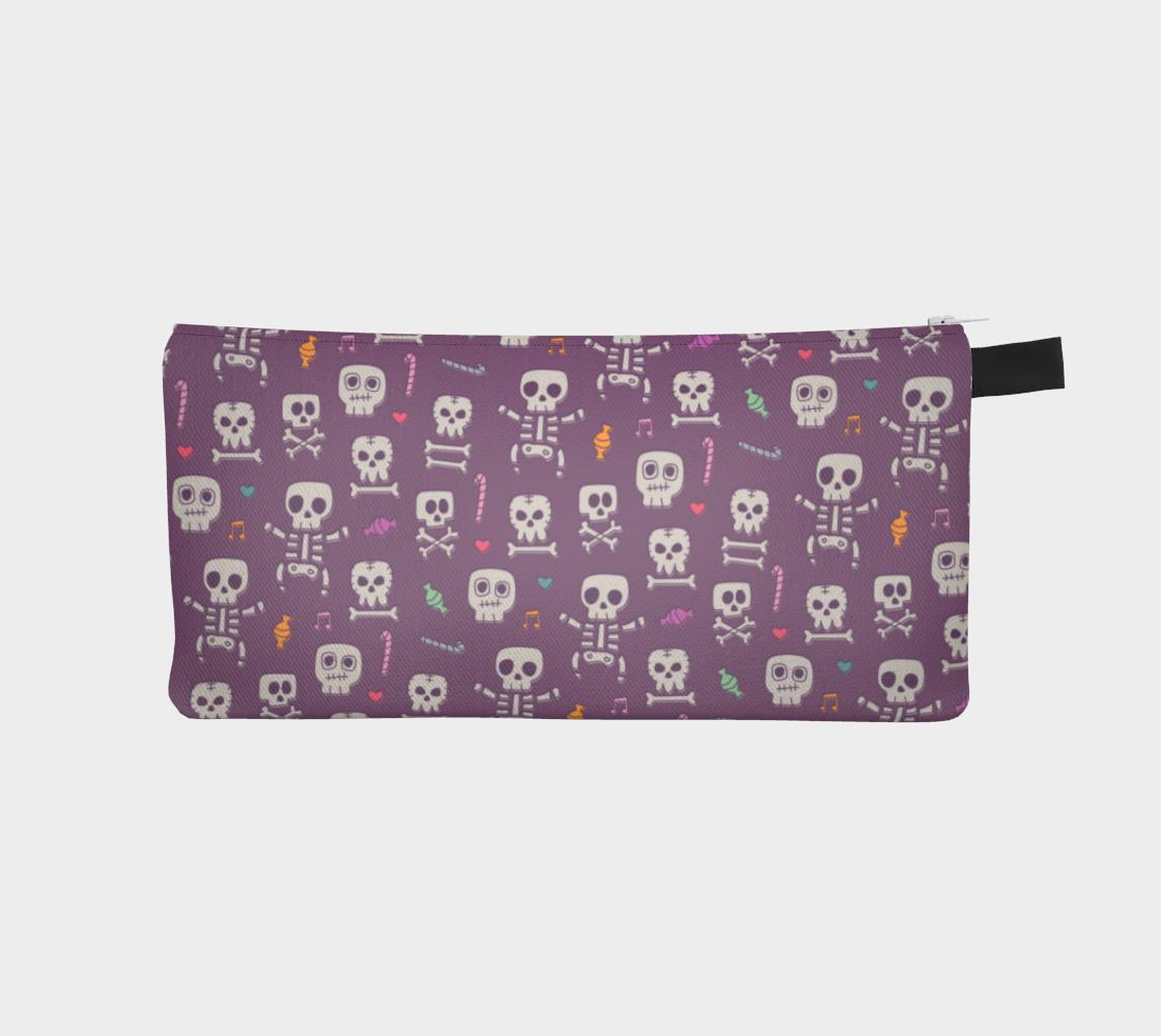 Purple Skeleton Pencil Case preview