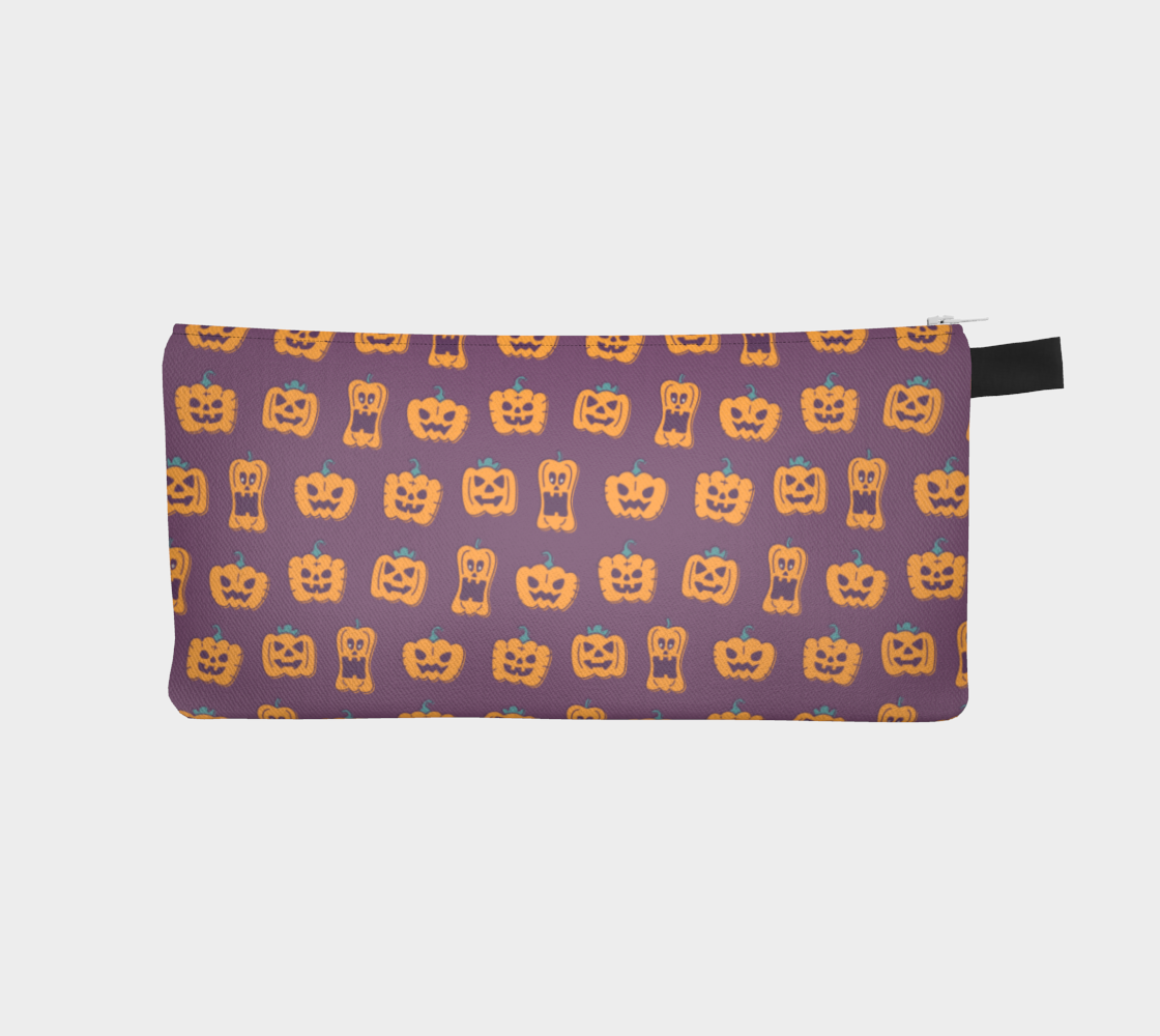 Purple Pumpkin Pencil Case preview