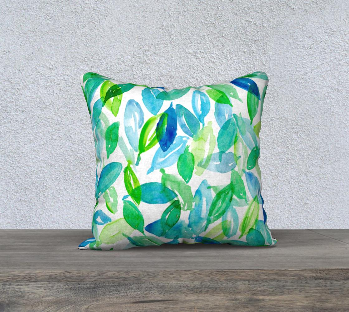 Aperçu de Falling Leaves in blue and green 18 x18 cover