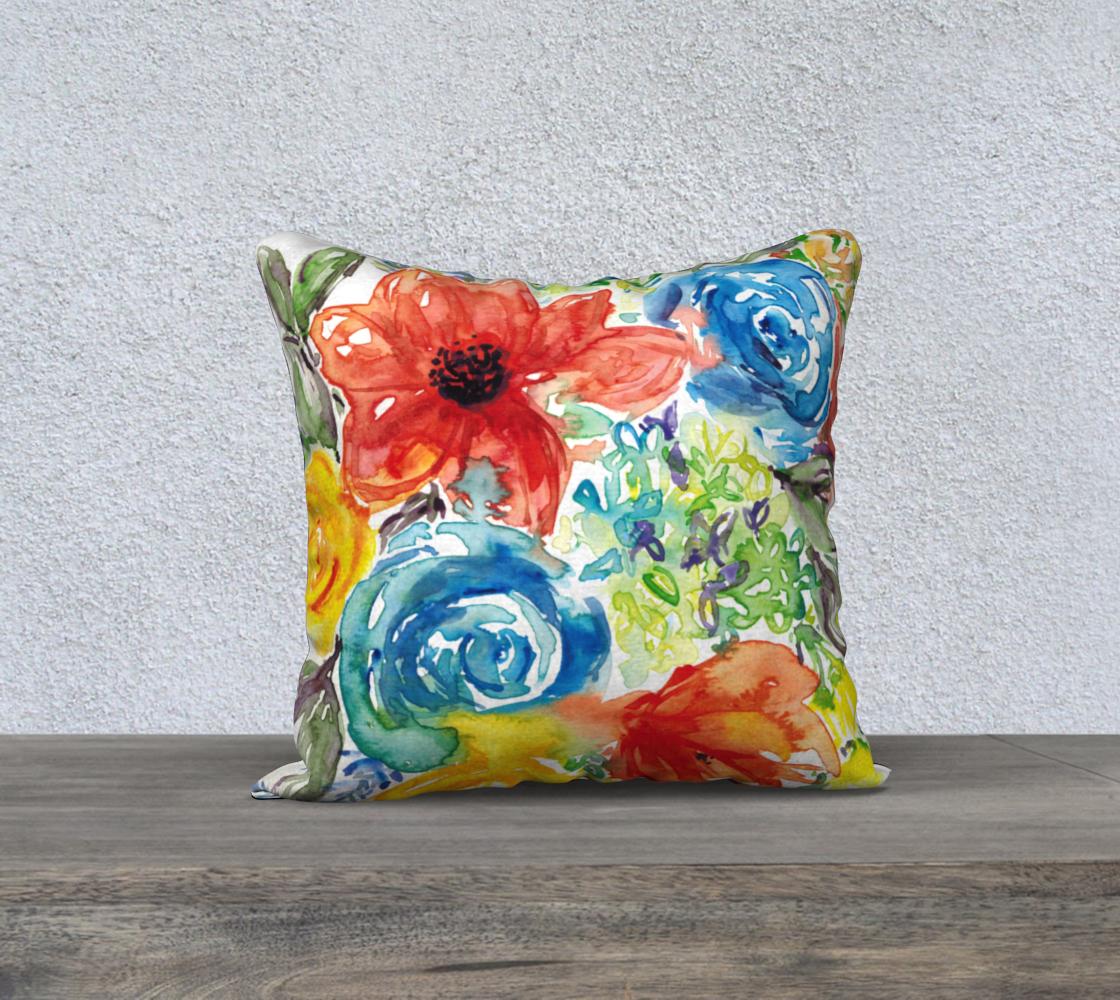 Aperçu de Vibrant Floral Pillow cover 18x18