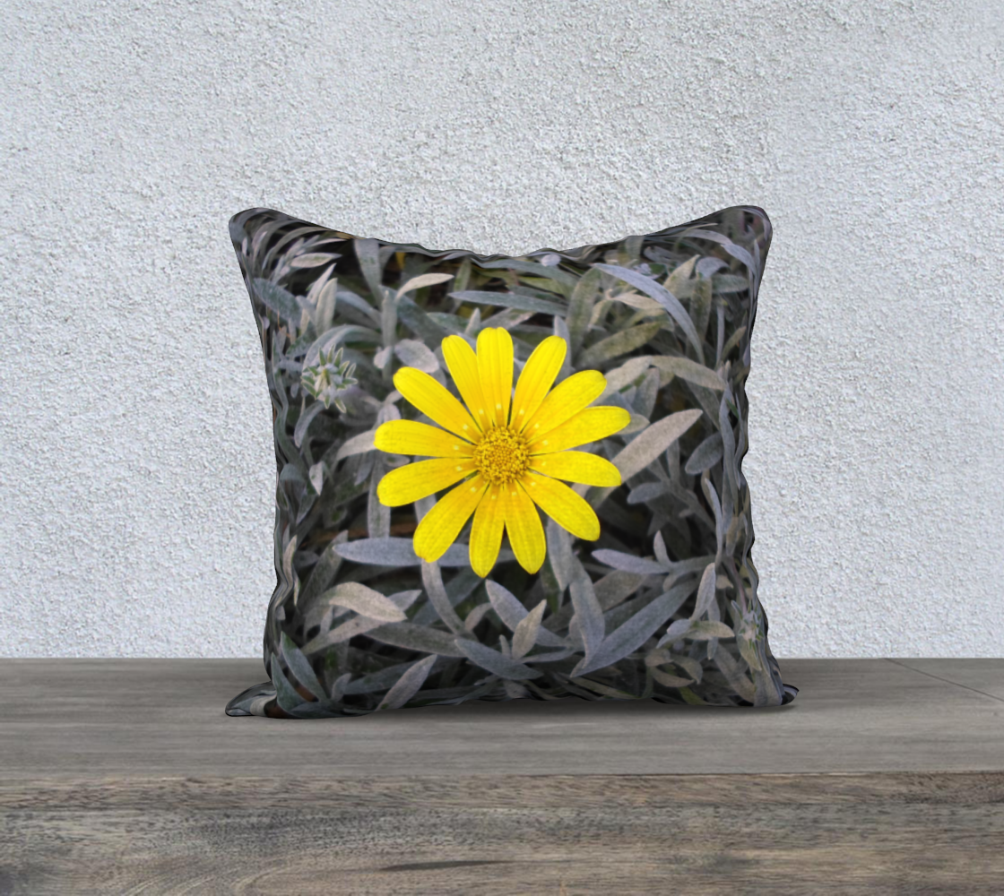 Yellow Daisy Flower Pillow Case Square 18 preview