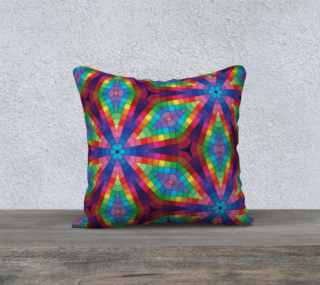 Aperçu de Kaleidoscope Rainbow Square Pillow Case