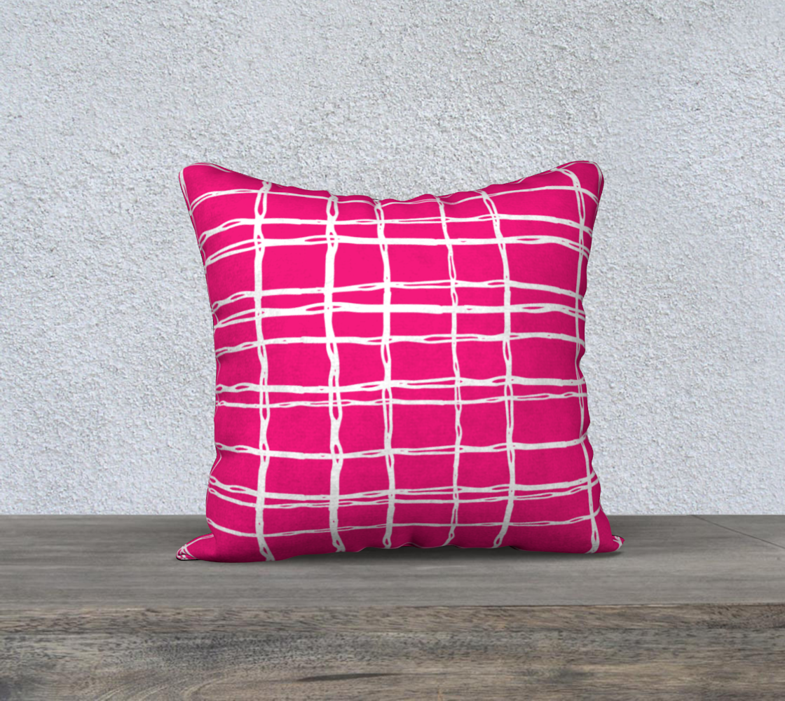 Pink and White Geometric Line Pattern Pillow Case 18 preview