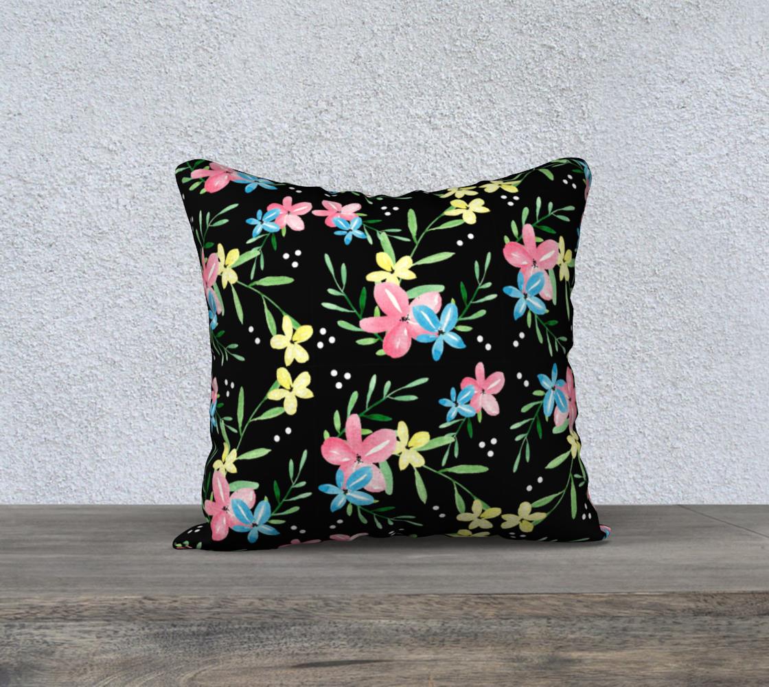Black Floral Pillow Case 18 preview