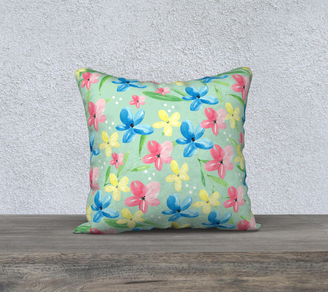 Green Floral Pillow Case 18 preview