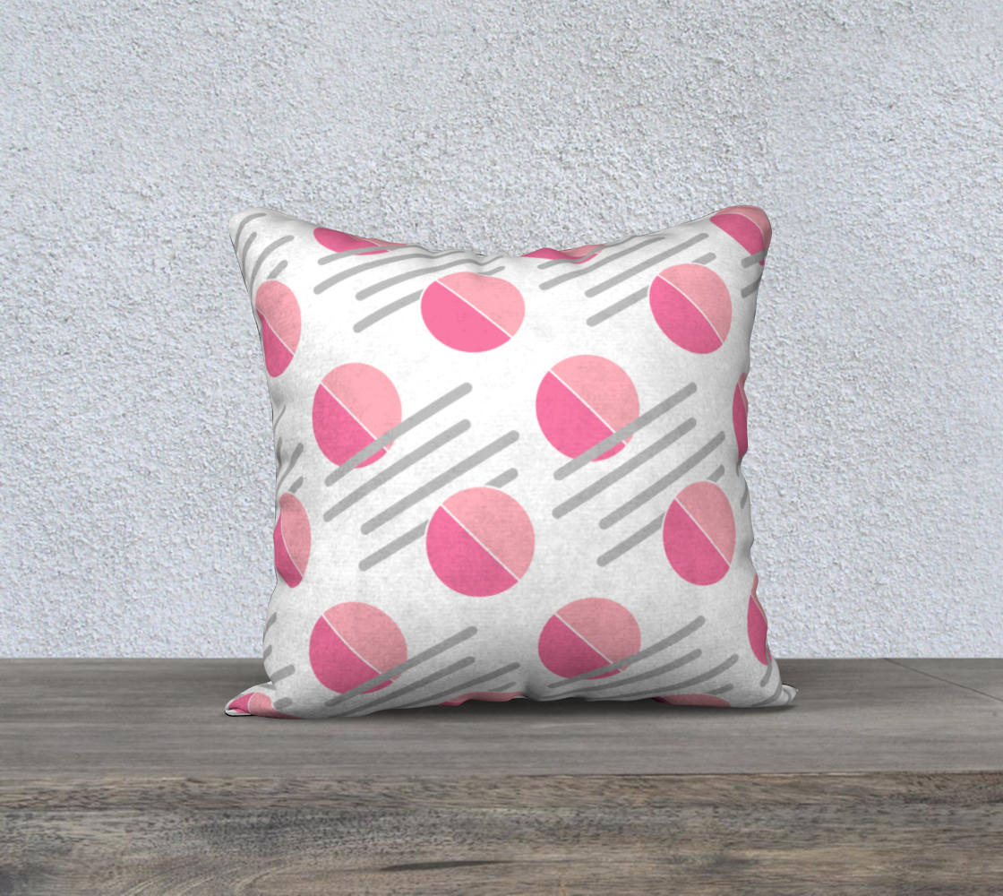 Pink and Grey Shape Abstract Pattern Pillow Case 18 preview