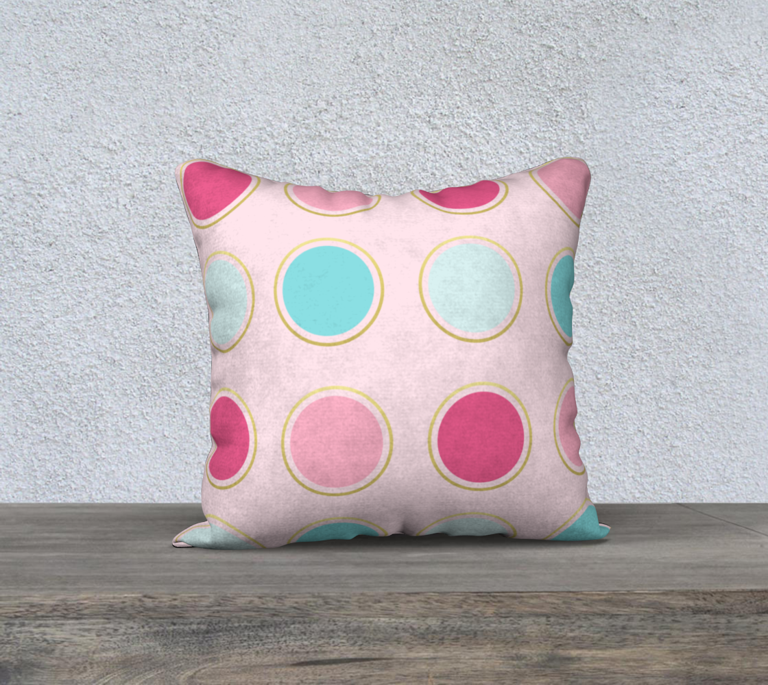 Pink and Teal Polka Dot Pillow Case 18 preview