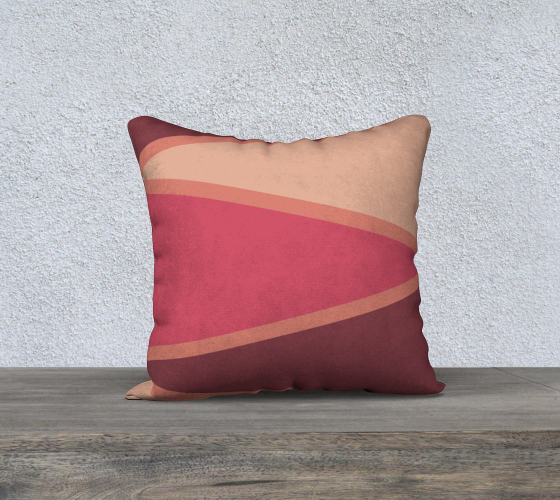 "Romantic Blush Triangle Pattern Pillow Case 18"" x 18"" preview"