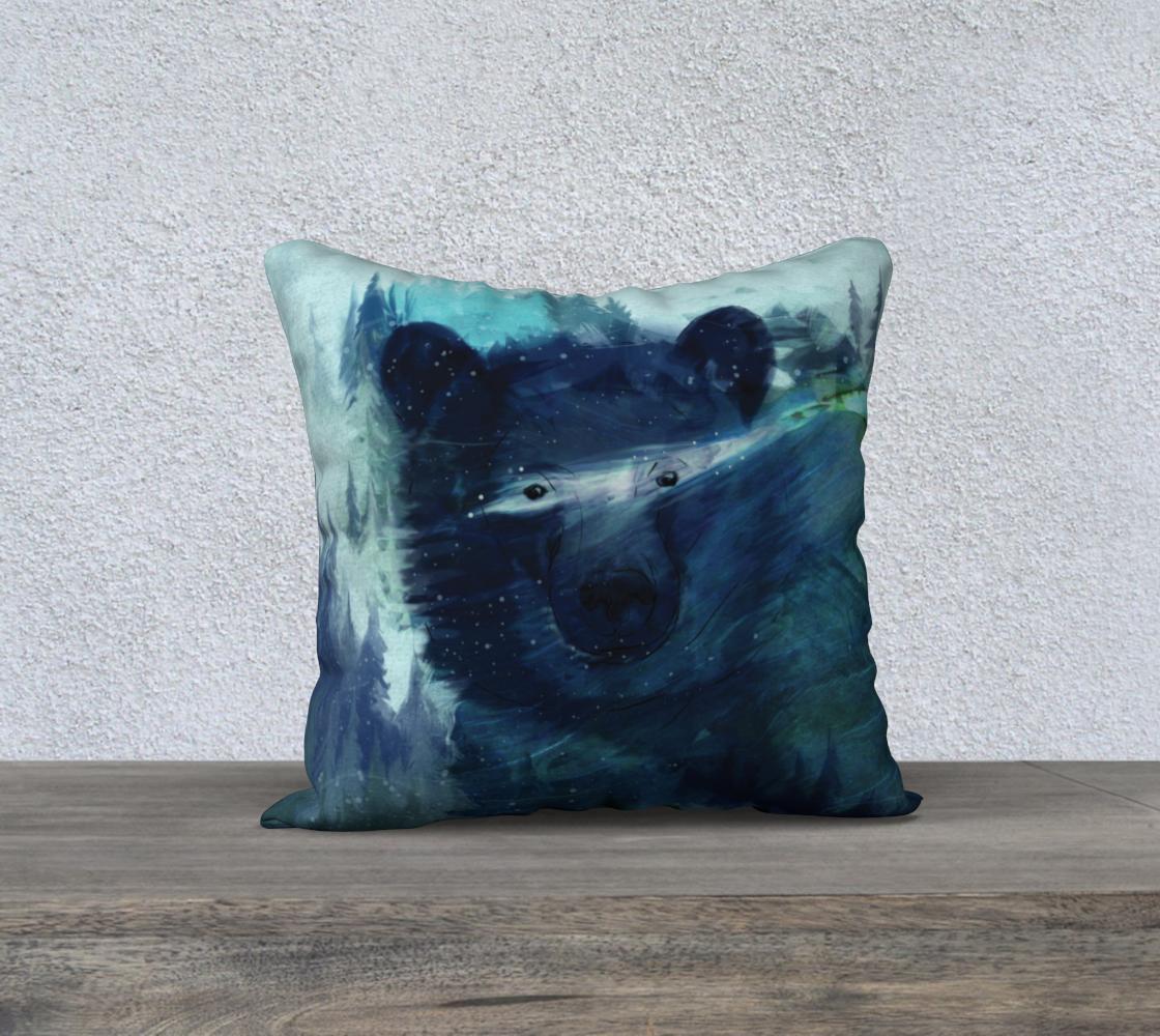Aperçu de Wandering Presence Bear Pillow Case