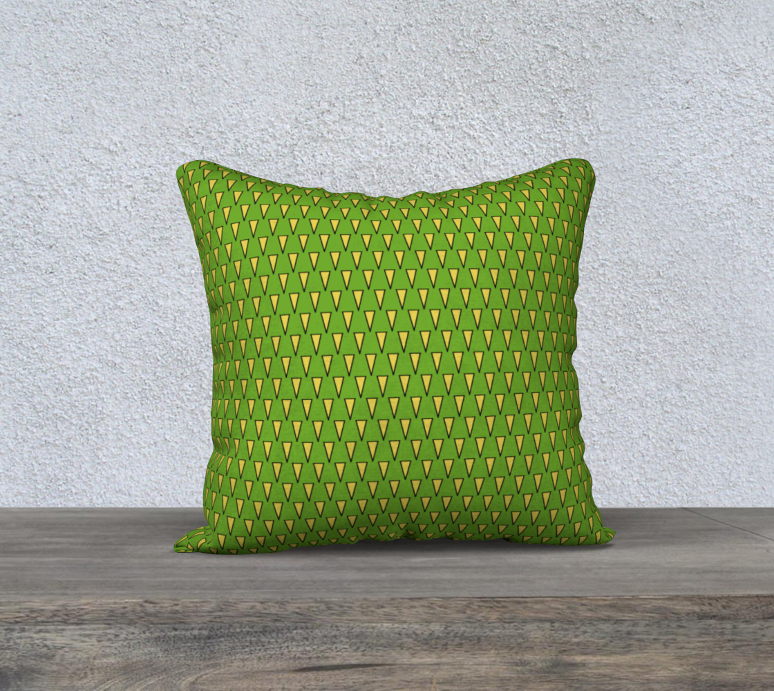 Yellow Triangles on Bright Green preview
