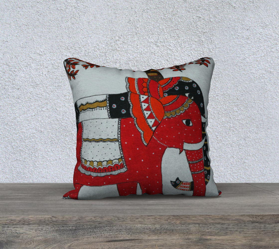 Elephant Couple cushion preview #2