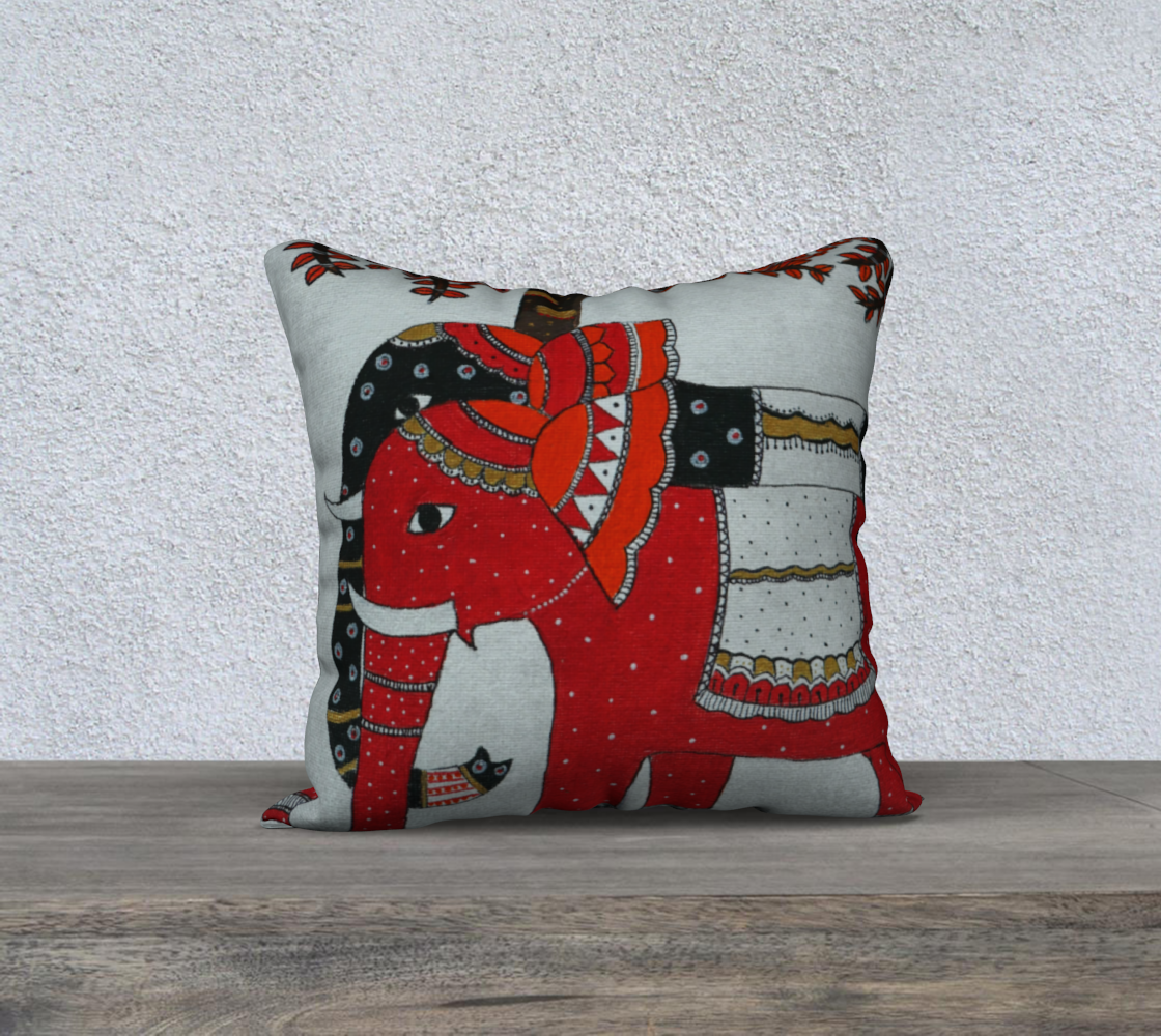 Elephant Couple cushion preview #1