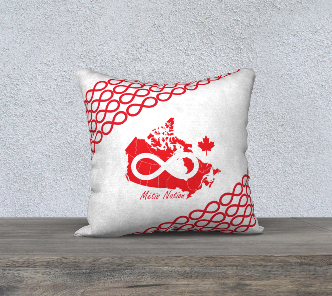 Metis Nation red pillow case 18x18 preview