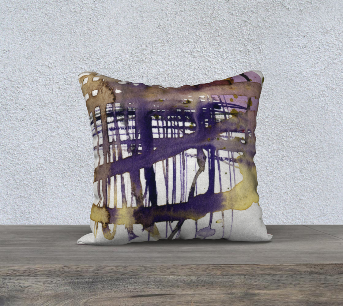 Abstract City Life Purple & Gold preview