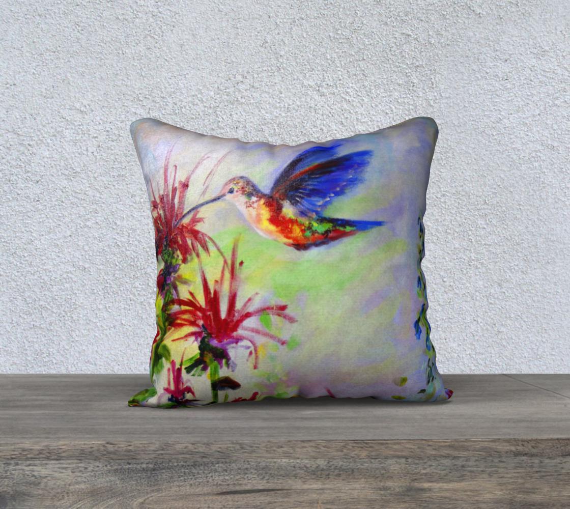 Hummingbird on Bee Balm Art preview