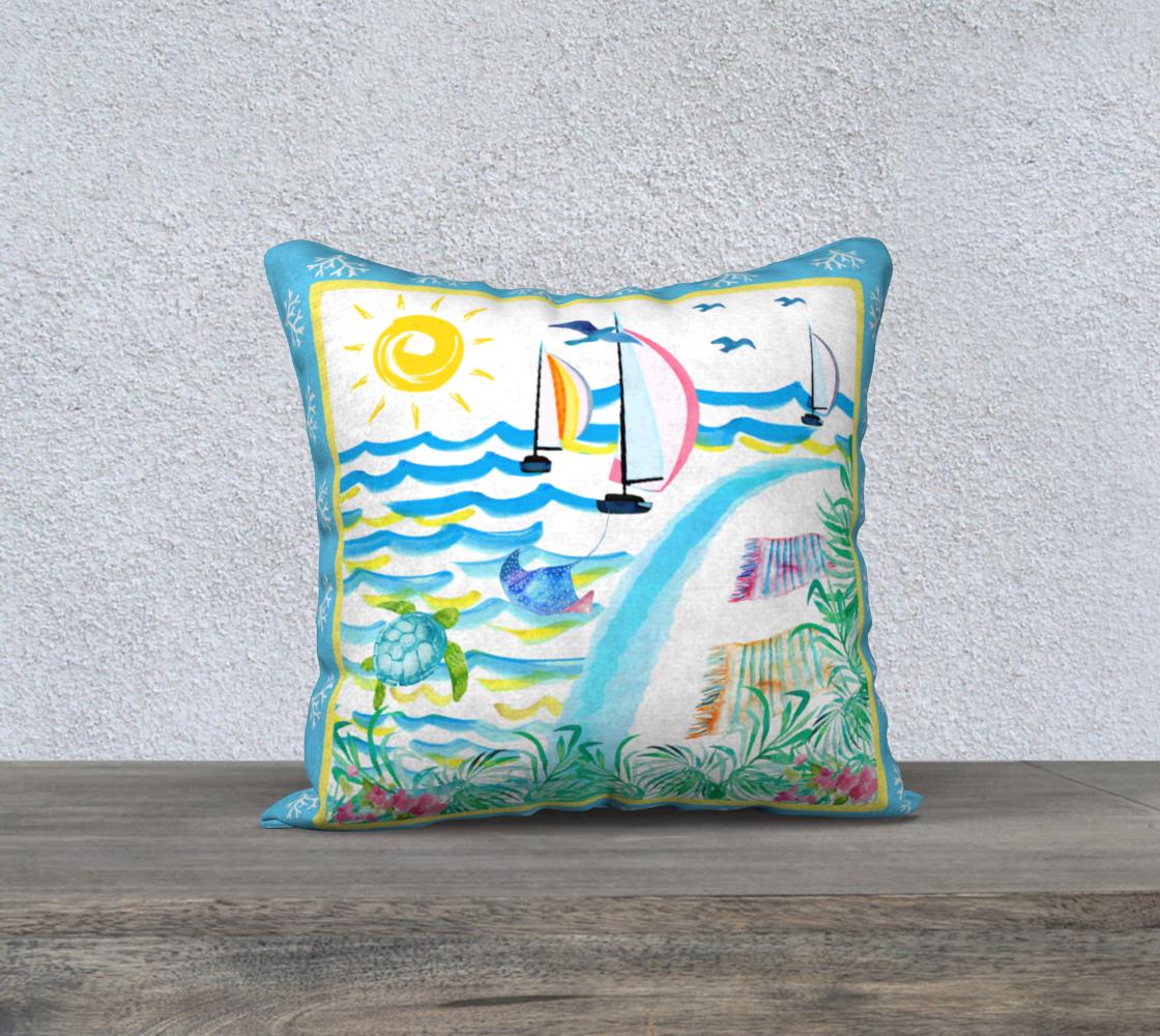 Aperçu de Island Holiday Pillow