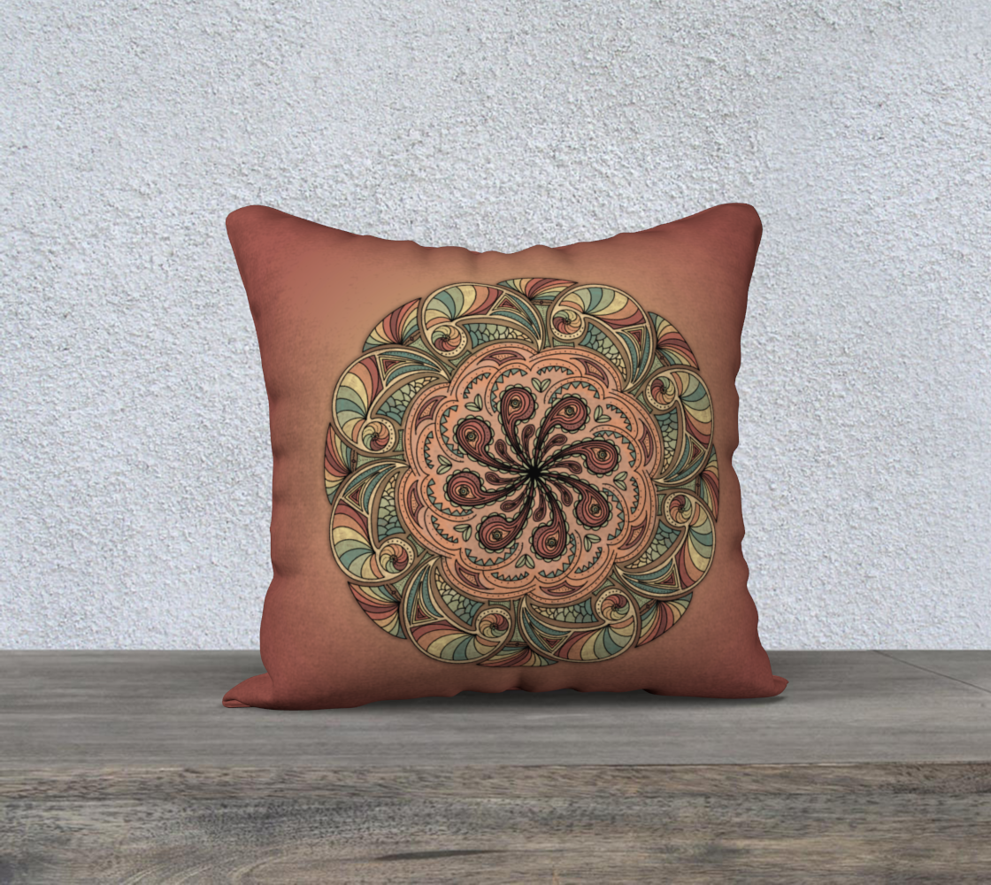Moroccan Shells Mandala - Pillow preview