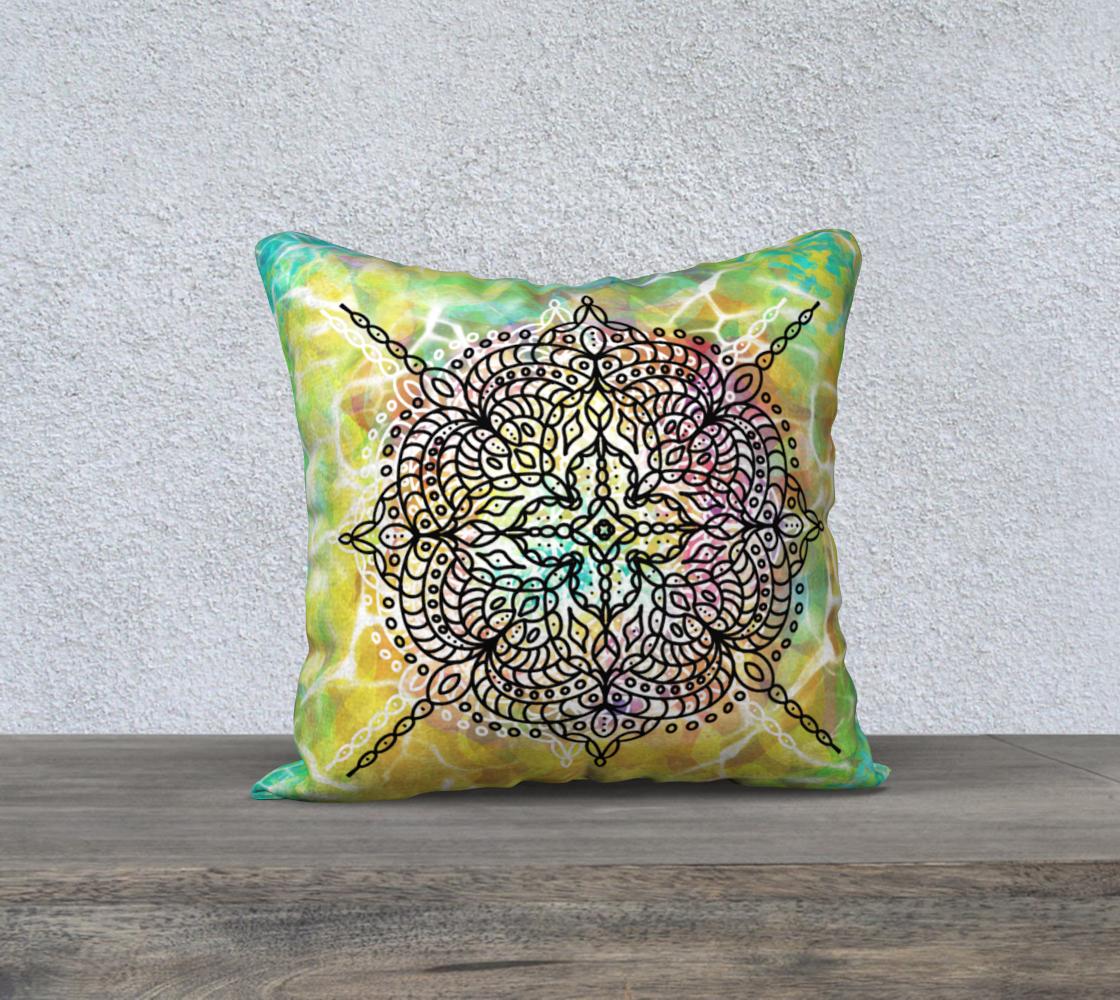 Mandala in Spring - Pillow preview