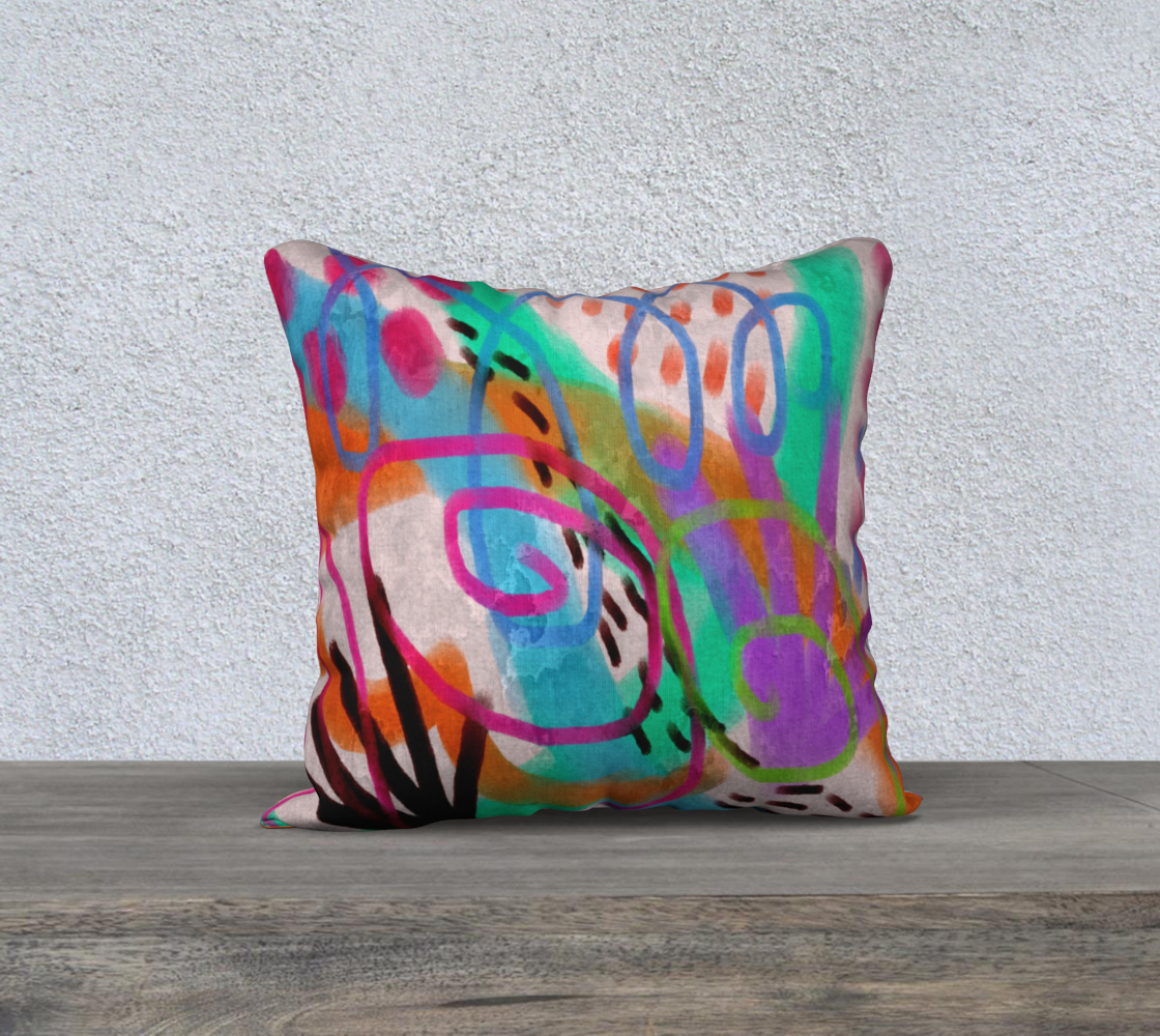 It's a Party Abstract Art Pillow Cover preview
