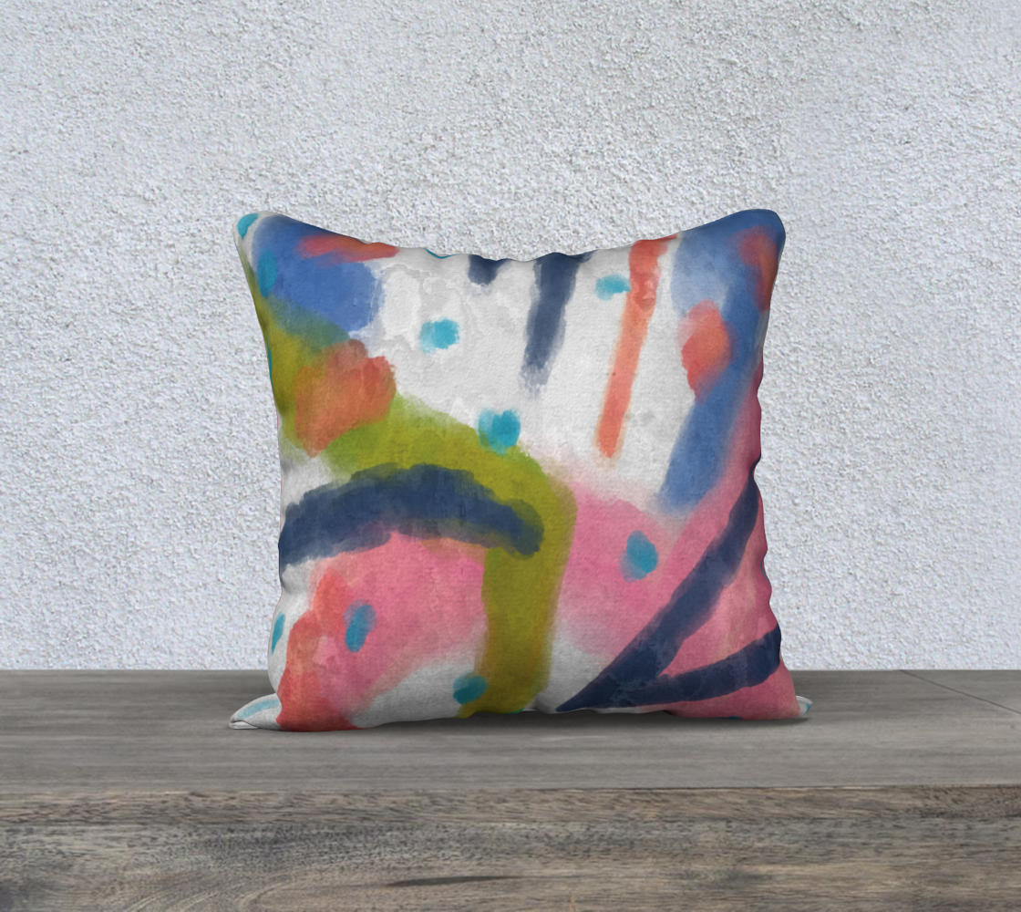 Funky Abstract Art Pillow Cover preview