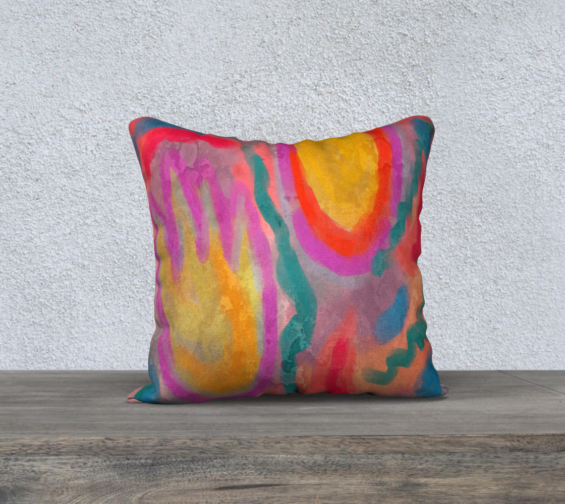 Spring Colorful Abstract Digital Painting Pillow Cover preview