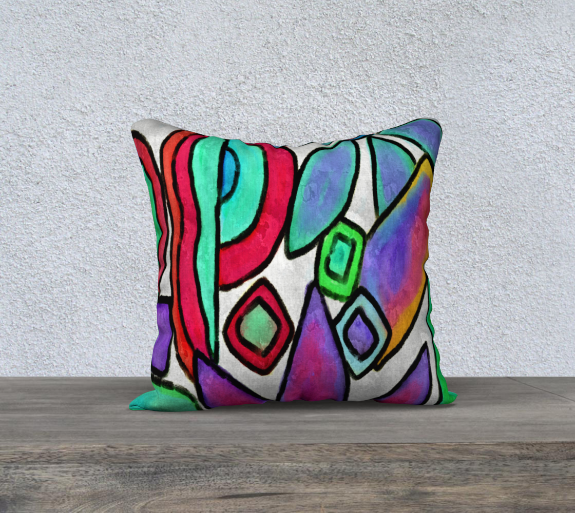 Funky Garden Abstract Digital Print Pillow Cover preview