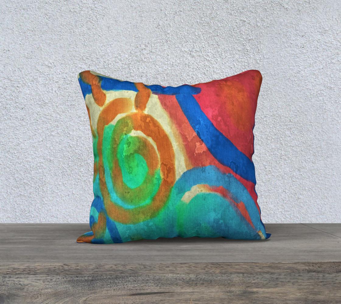 Aperçu de Sun and Sea Abstract Digital Painting Pillow Cover