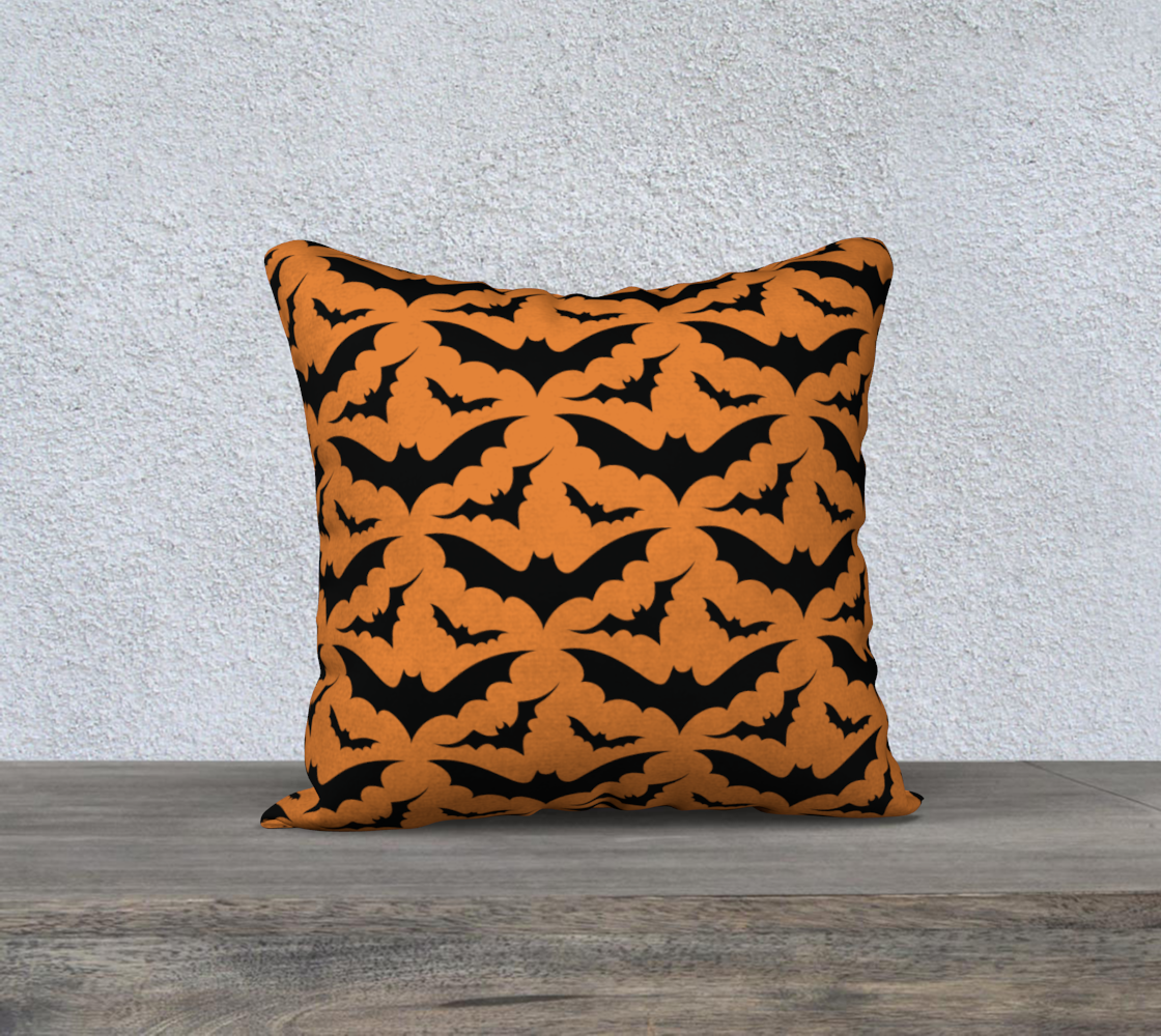 Orange Bats Pillow Case 18x18 preview