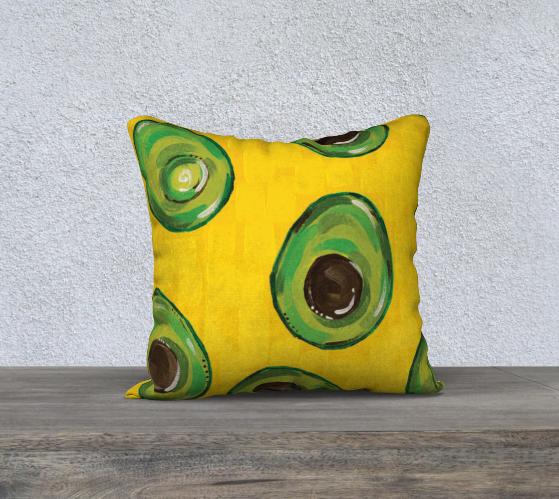 """Avocado (Painting) 18"""" Pillow Case preview"""