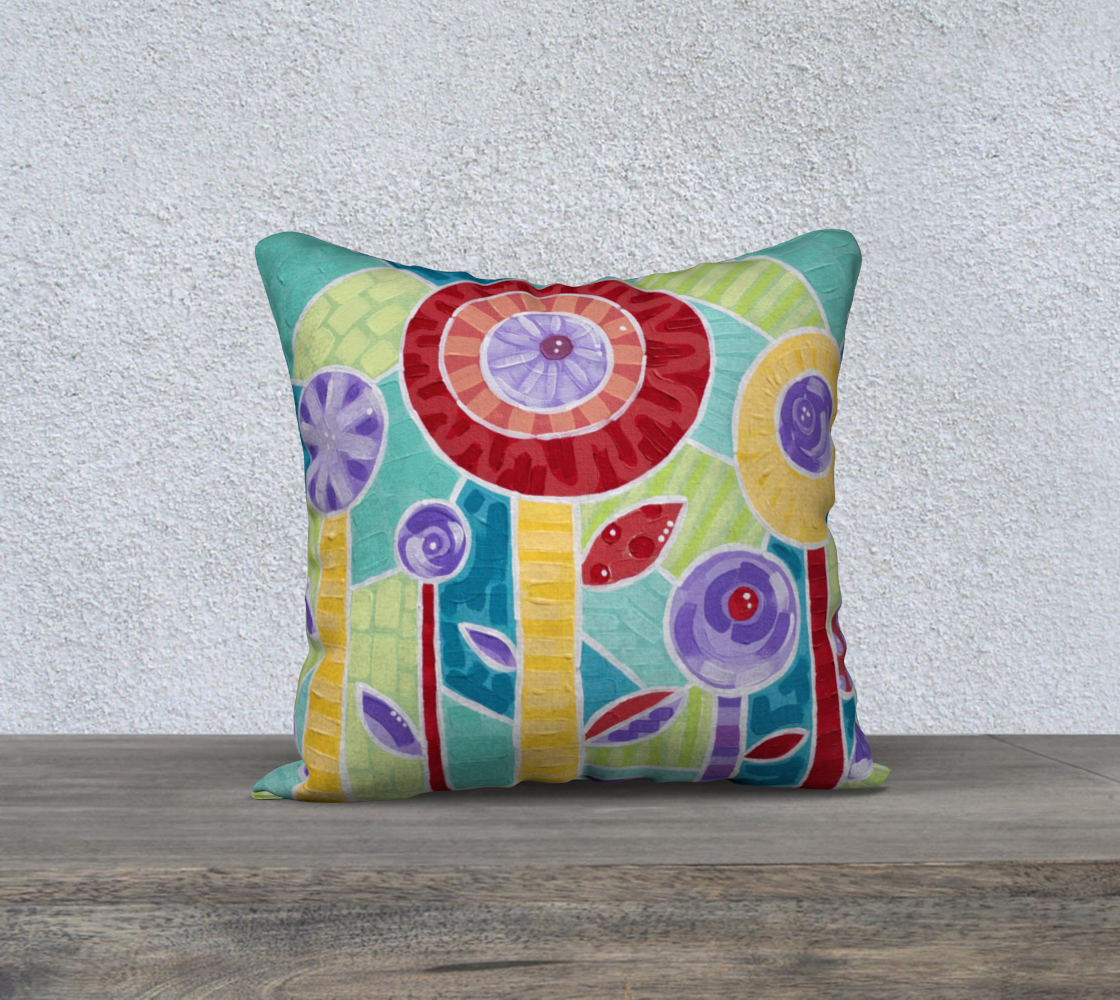 """Glass Poppies (Painting) 18"""" Pillow Case preview"""