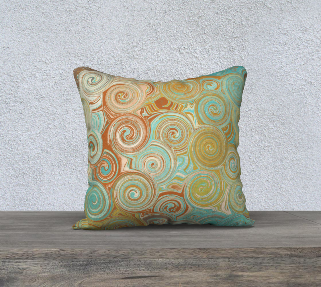 Teal Orange Swirls  preview