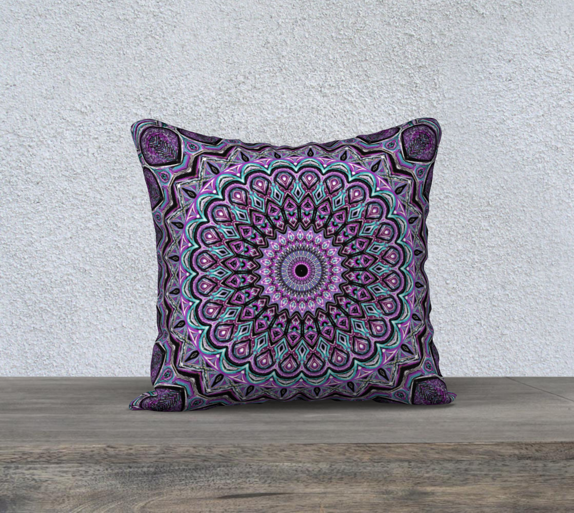 Blackberry Mandala Pillow Cover preview