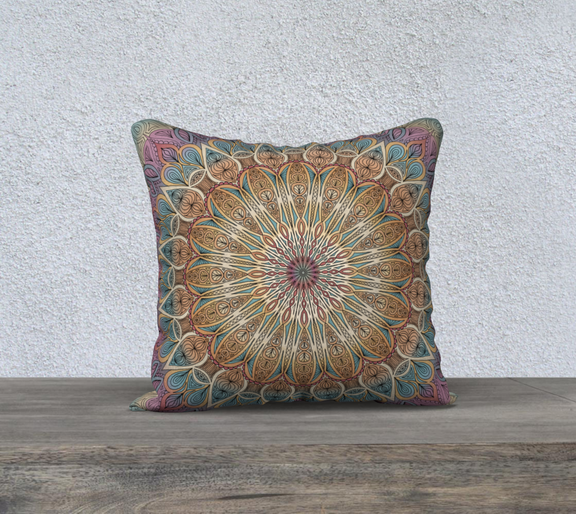 Gentle Touch Mandala Pillow Cover  preview