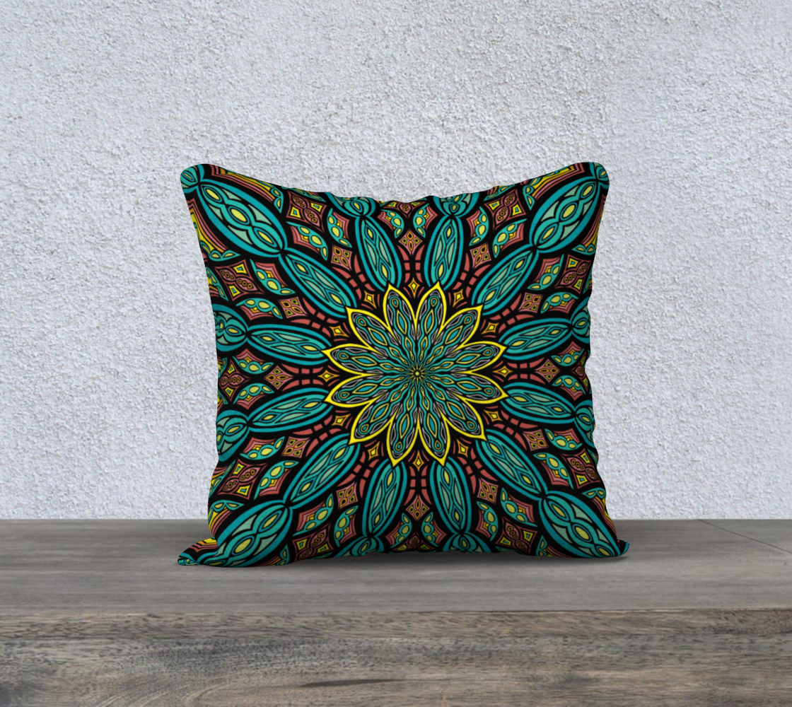 Stained Glass Mandala Pillow Cover preview