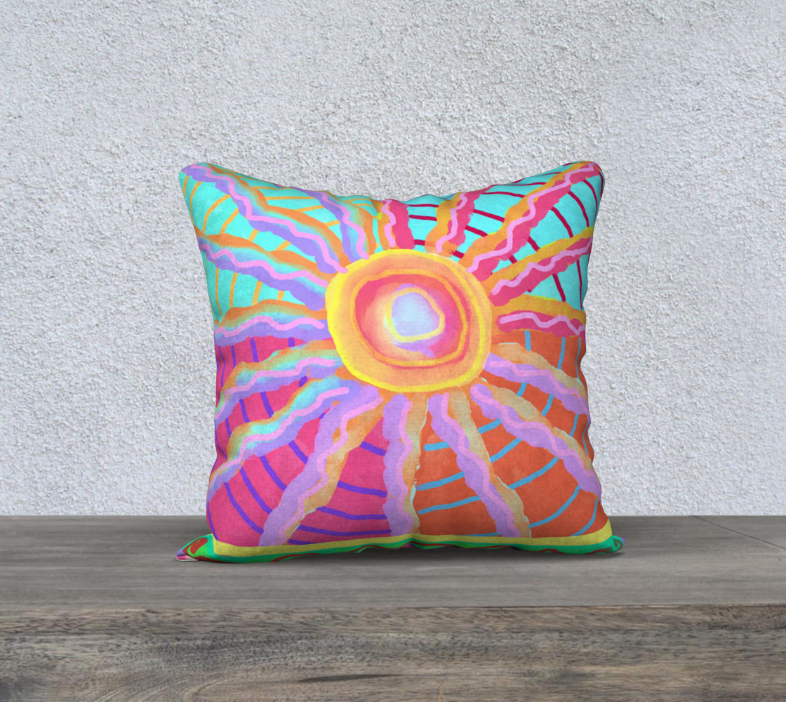 Aperçu de Sunspot Abstract Digital Painting Pillow Cover