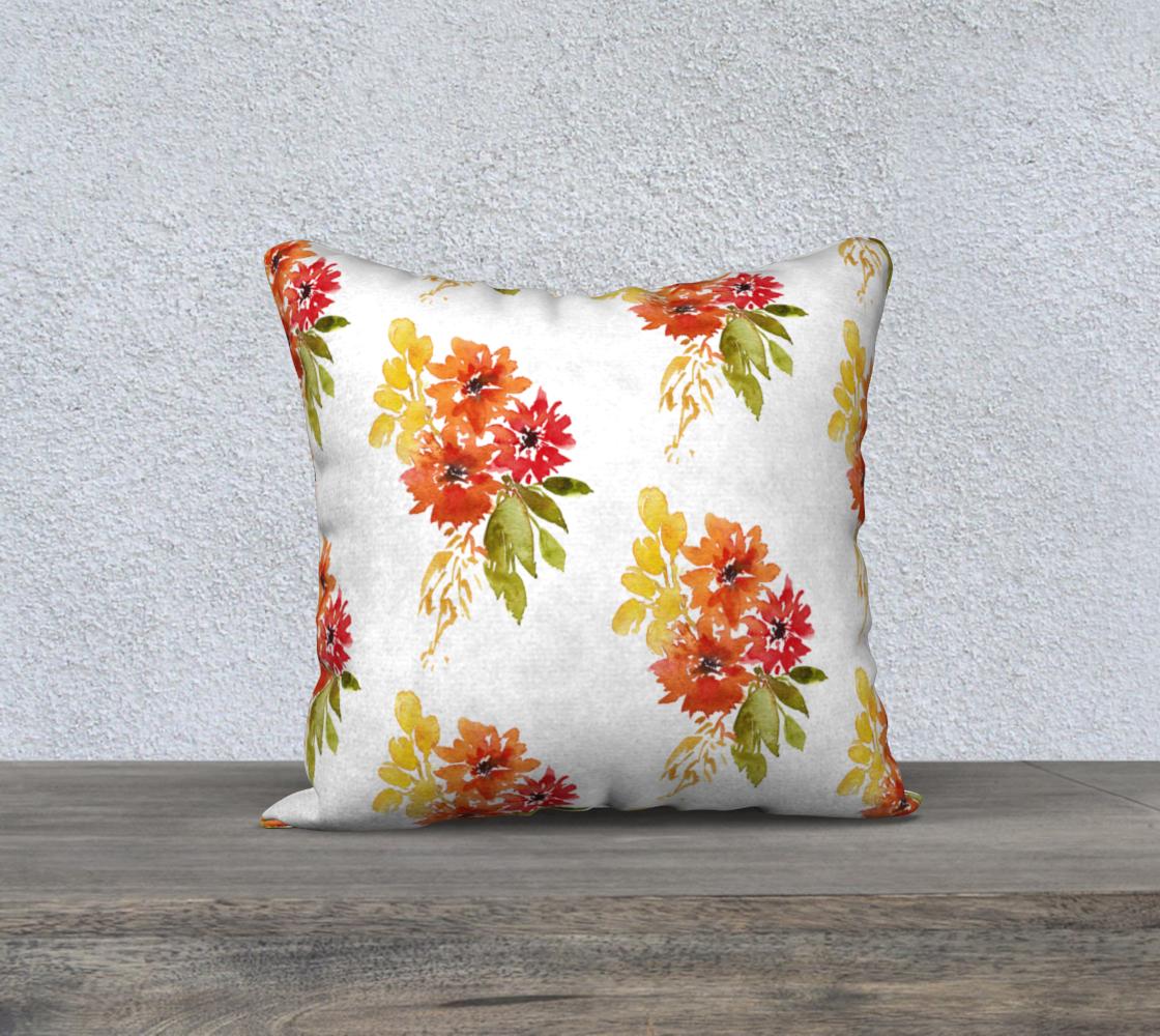 Aperçu de Dahlia Fall Floral Pillow Cover  18x18