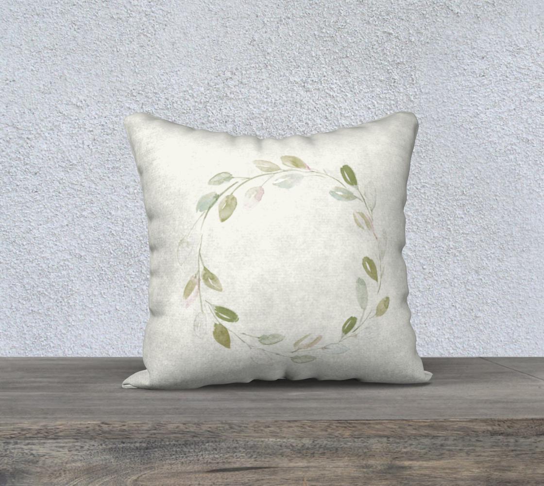 Aperçu de Simple Wreath Pillow 18x18