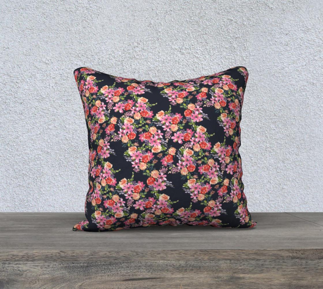 Aperçu de Pink coral floral pillow 18x18