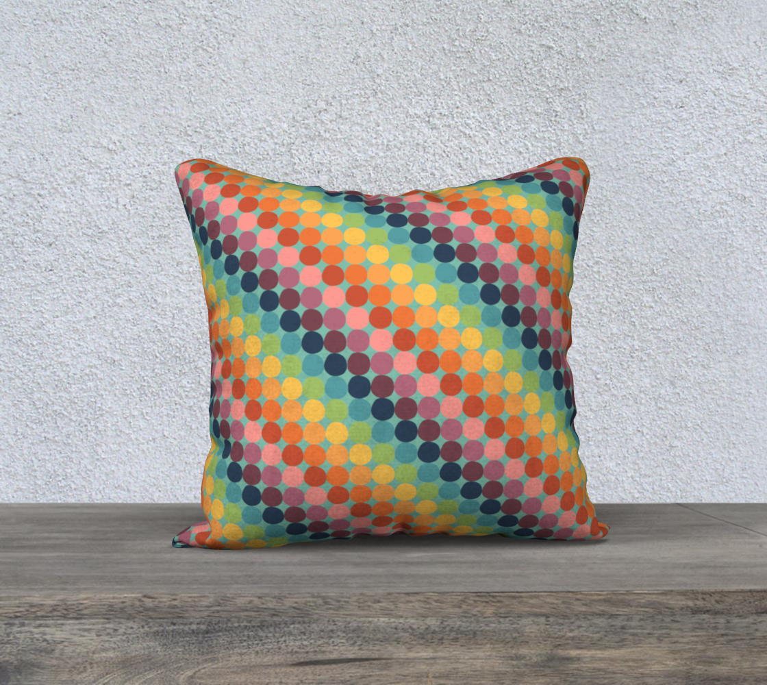 "Diagonal Dotty Throw Pillow Cover - 18"" preview"