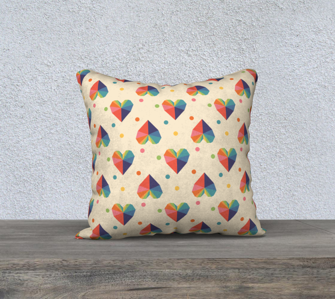 """Gem of a Heart Throw Pillow Cover - 18"""" preview"""