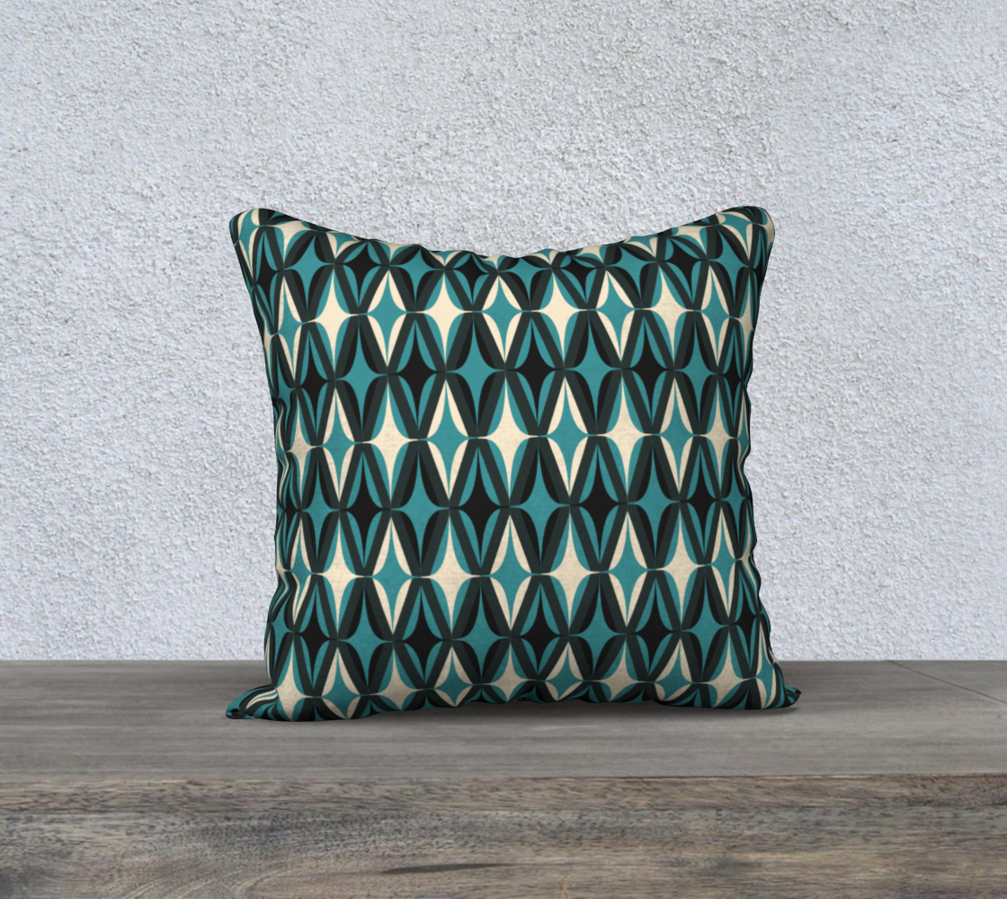 """Midcentury Modern in Teal - 18"""" preview"""