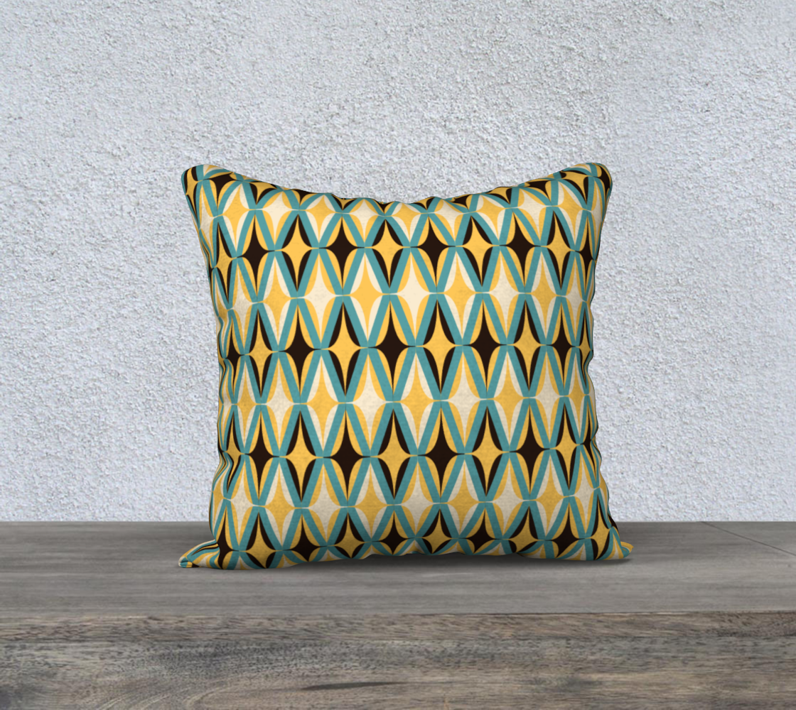 Midcentury in Teal and Gold - 18 preview